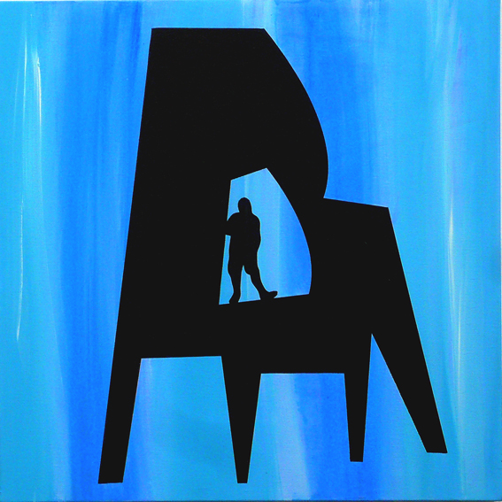 """CHAIR / MAN : DEEP BLUE"""