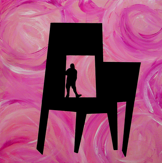 """CHAIR / MAN : DEEP PINK"""