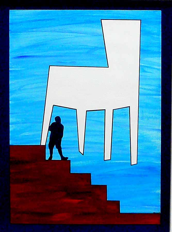 """CHAIR / MAN : STAIRWAY"""