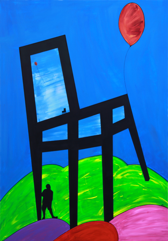"""CHAIR / MAN : THE DREAMER """